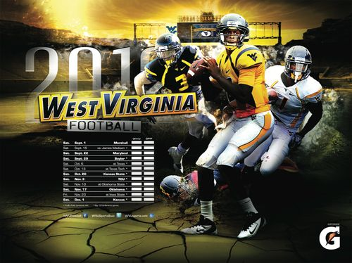 West Virginia Mountaineers 2012 poster schedule