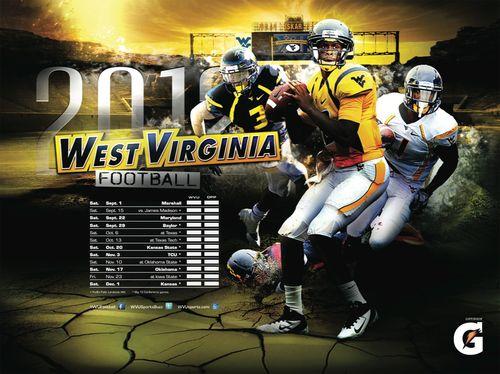 West Virginia Mountaineers 2012 poster schedule