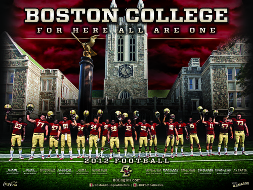 Boston College Eagles 2012 poster schedule