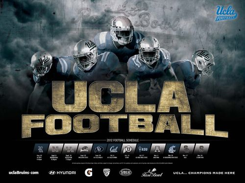 UCLA Bruins 2012 poster schedule