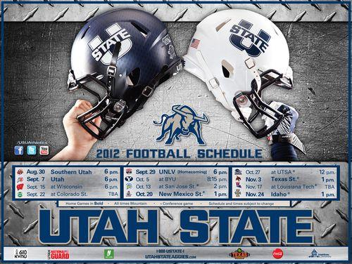 Utah State Aggies 2012 poster schedule