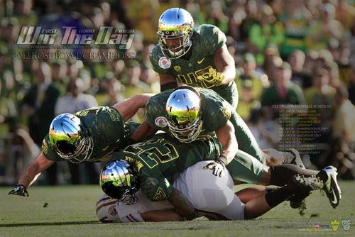 Oregon Ducks 2012 poster schedule