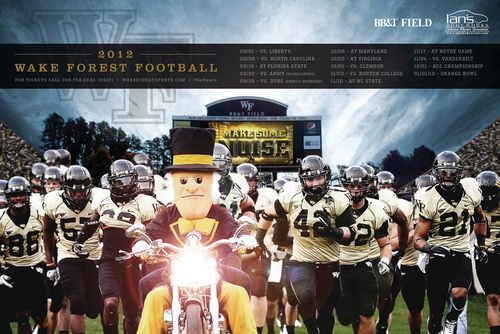 Wake Forest Poster schedule 2012