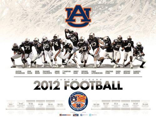 Auburn Tigers 2012 poster schedule