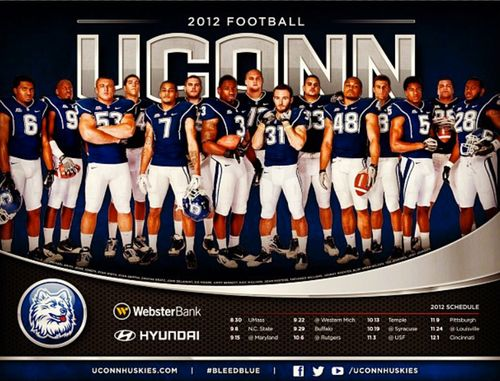 Connecticut Huskies 2012 poster schedule