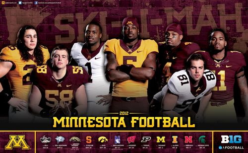 Minnesota Golden Gophers 2012 poster schedule