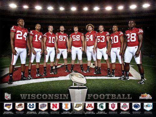 Wisconsin Badgers 2012 poster schedule