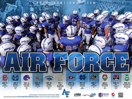 Air Force Falcons poster schedule