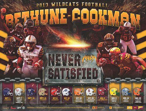 Bethune-Cookman 2013 poster schedule