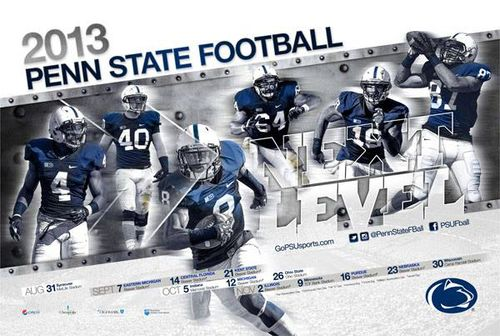 Penn State 2013 poster schedule