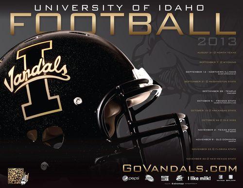 Idaho Vandals 2013 poster schedule