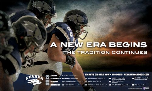 Nevada Wolf Pack 2013 poster schedule