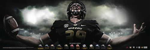 Missouri Tigers 2013 poster schedule