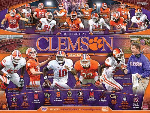 Clemson 2013 poster schedule