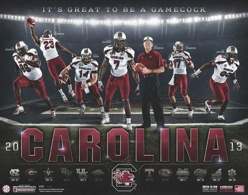 South Carolina 2013 poster schedule