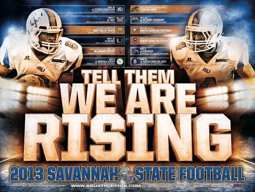 Savannah State 2013 poster schedule