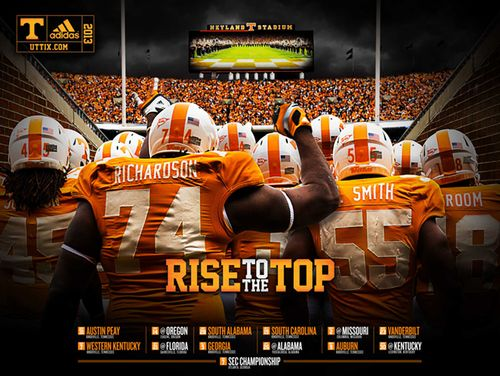 Tennessee 2013 poster schedule tunnel