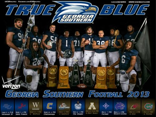 Georgia Southern Eagles 2013 poster schedule