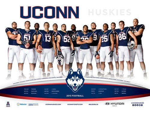 Connecticut Huskies 2013 poster schedule