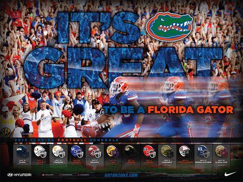 Florida Gator poster schedule 2013