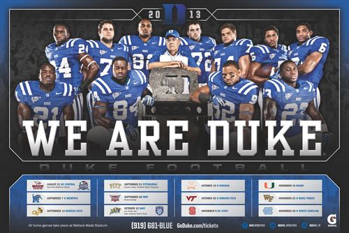 Duke Blue Devils 2013 poster schedule