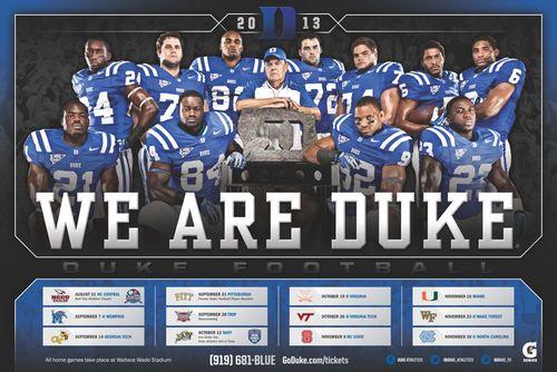 Duke Blue Devils 2013 poster schedule