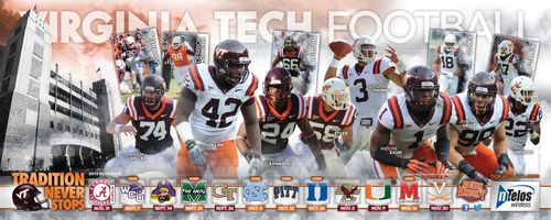 Virginia Tech Hokies 2013 poster schedule