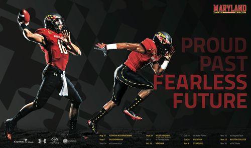 Maryland Terrapins poster schedule