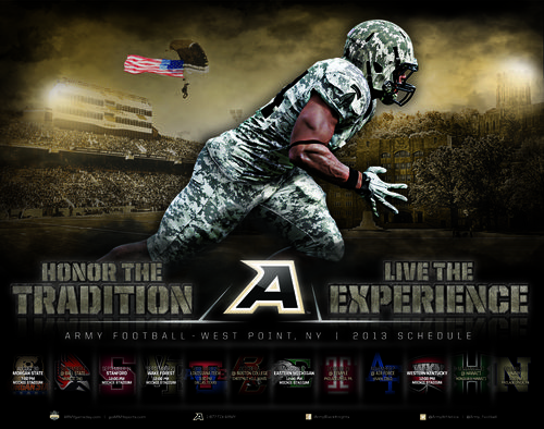 Army Black Knights 2013 poster schedule