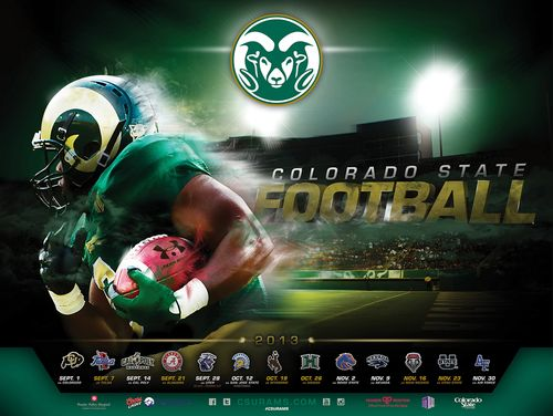 Colorado State 2013 poster schedule