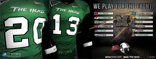 Marshall Thundering Herd 2013 poster schedule