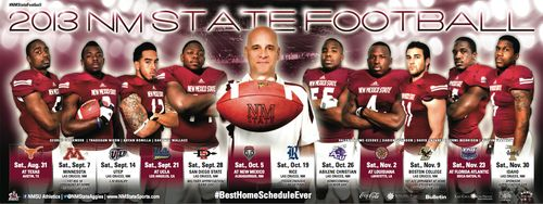 New Mexico State Aggies 2013 poster schedule
