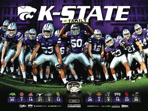 Kansas State Wildcats 2013 poster schedule