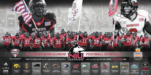 Northern Illinois Huskies 2013 poster schedule