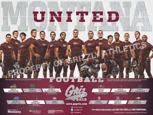 Montana Grizzlies 2013 poster schedule