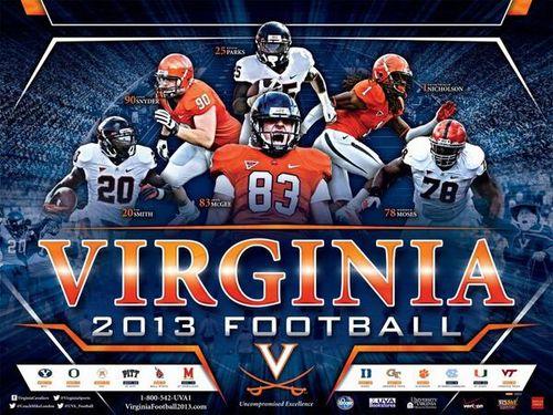 Virginia Cavaliers 2013 poster schedule