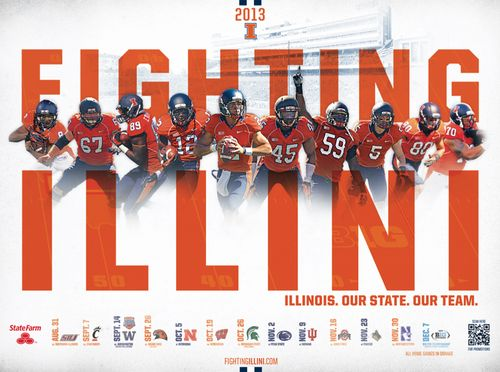 Illinois Fighting Illini poster schedule