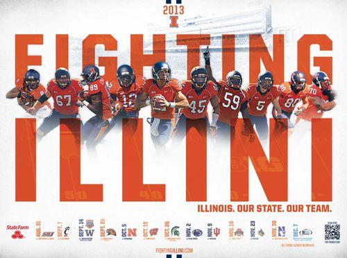 Illinois Fighting Illini poster schedule