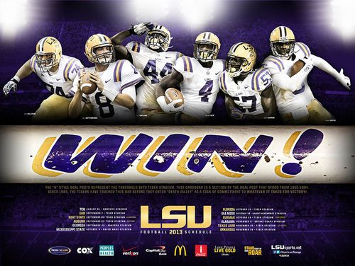Louisiana State LSU 2013 poster schedule