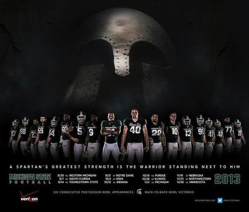 Michigan State 2013 poster schedule
