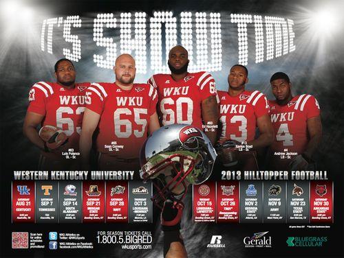 Western Kentucky 2013 poster schedule