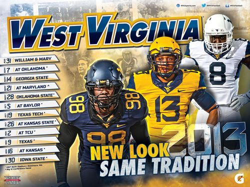 West Virginia 2013 poster schedule