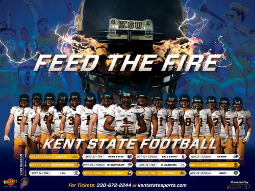 Kent State 2013 poster schedule