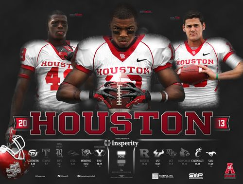 Houston Cougars 2013 poster schedule