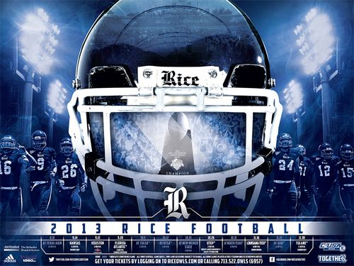 Rice Owls 2013 poster schedule