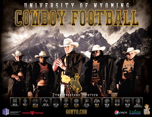 Wyoming Cowboys 2013 poster schedule