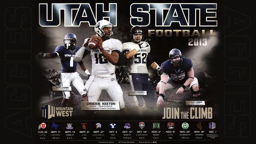Utah State Aggies 2013 poster schedule main