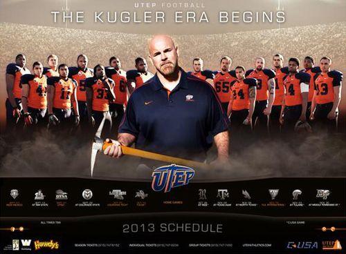 Texas El Paso Miners UTEP 2013 poster schedule