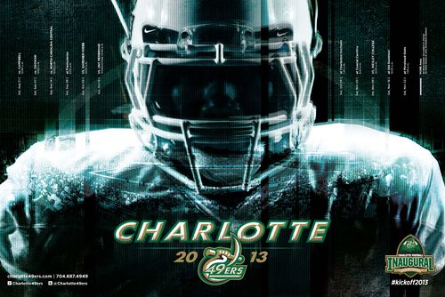 Charlotte 49ers 2013 poster schedule