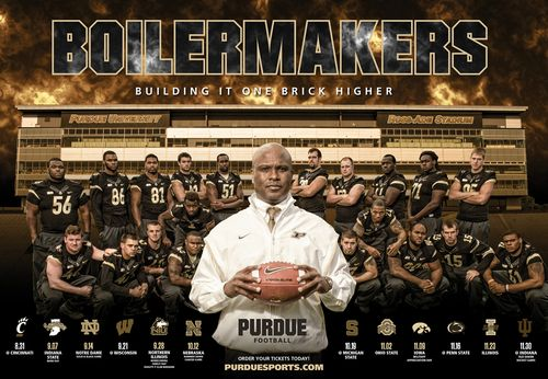 Purdue Boilermakers 2013 team poster